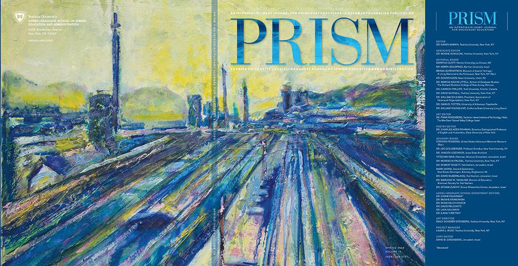 PRISM 2018; New York Yeshivat university; An Interdisciplinary Journal for Holocaust Educators. First cover